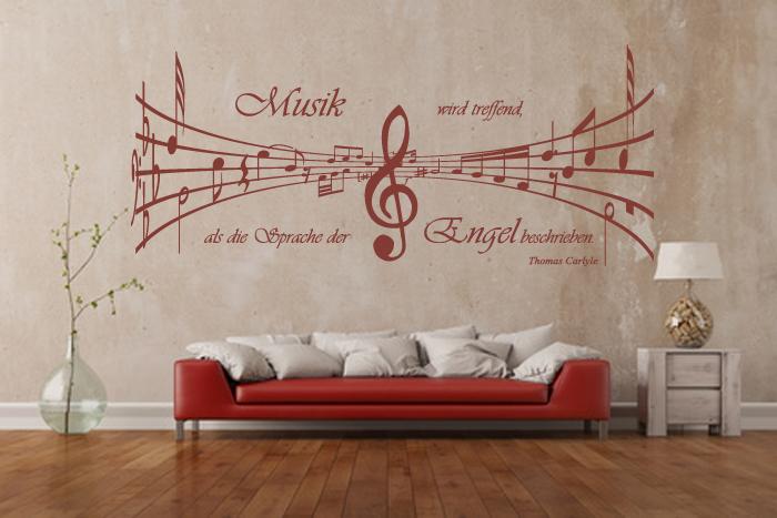 Adesivo murale note d detto musica lingua angelo clef sticker